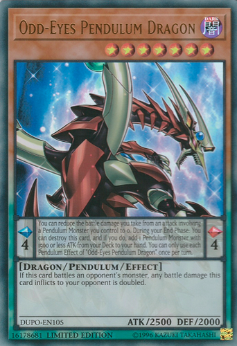 DUPO-EN105 Odd-Eyes Pendulum Dragon
