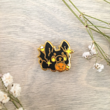 Load image into Gallery viewer, Echo the Bat Frenchie Pin