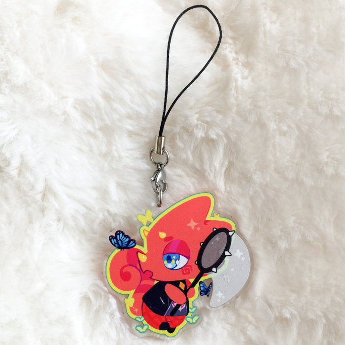 Butterfly Catcher Acrylic Charm