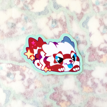 Shiny Raccoon Sticker