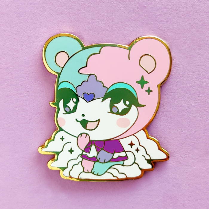 Dreamy Bear Pin (Purple Dress Ver.)