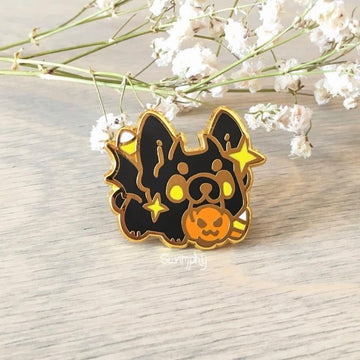 Echo the Bat Frenchie Pin
