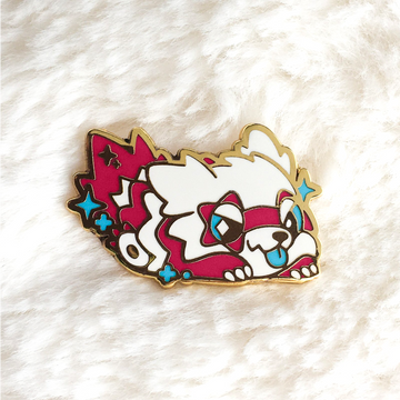Shiny Raccoon Pin