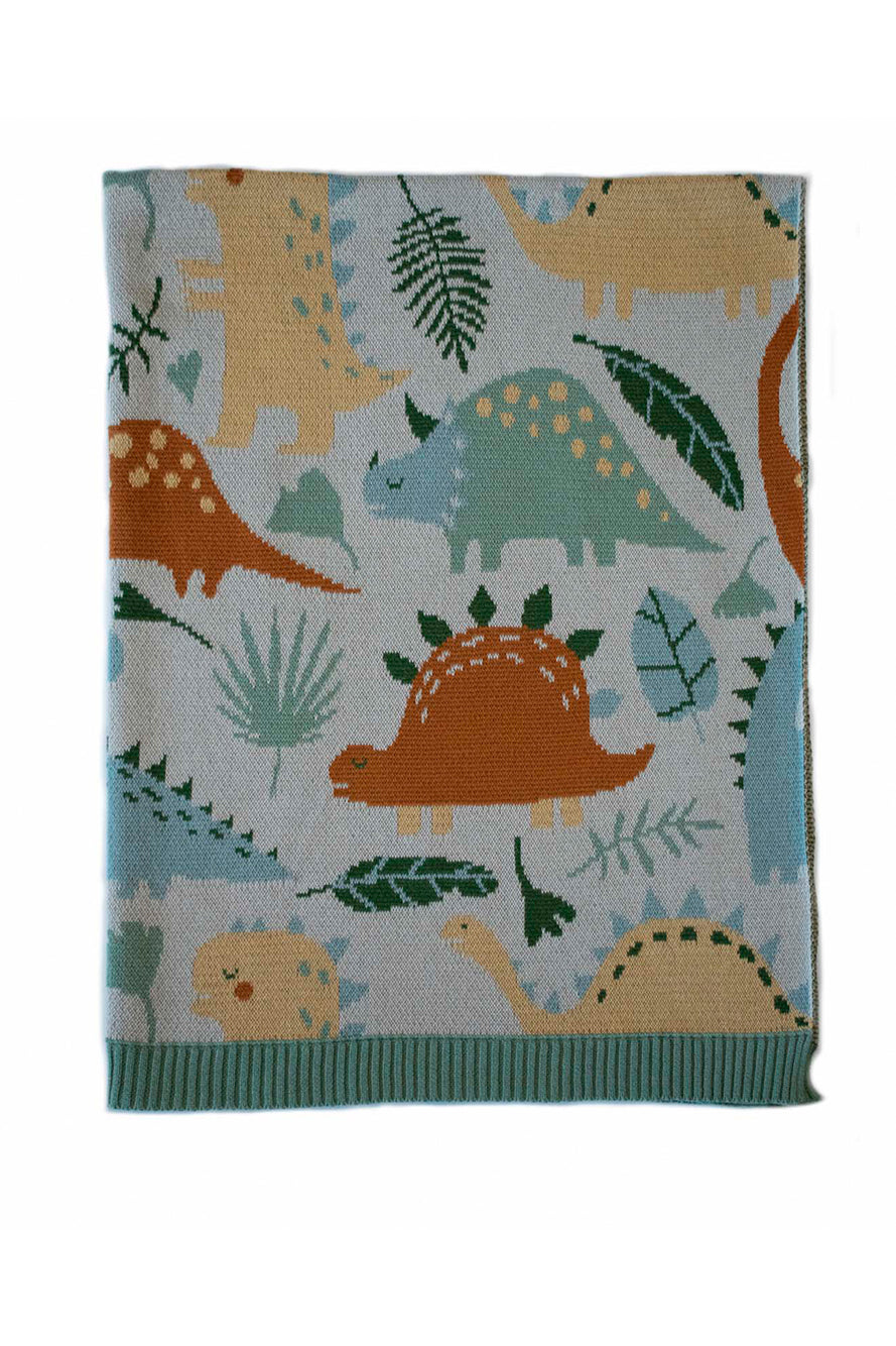 INDUS - BABY BLANKET - DINOSAUR - Tempted Kensington