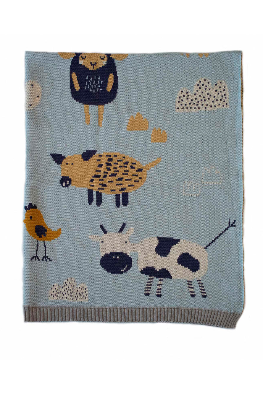 INDUS - BABY BLANKET - FARMYARD - Tempted Kensington