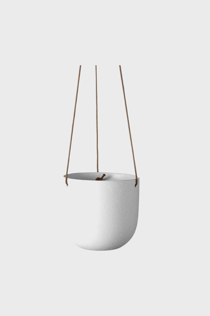 EVERGREEN COLLECTIVE - CADE HANGING POT - SMALL - SOFT WHITE - Tempted Kensington