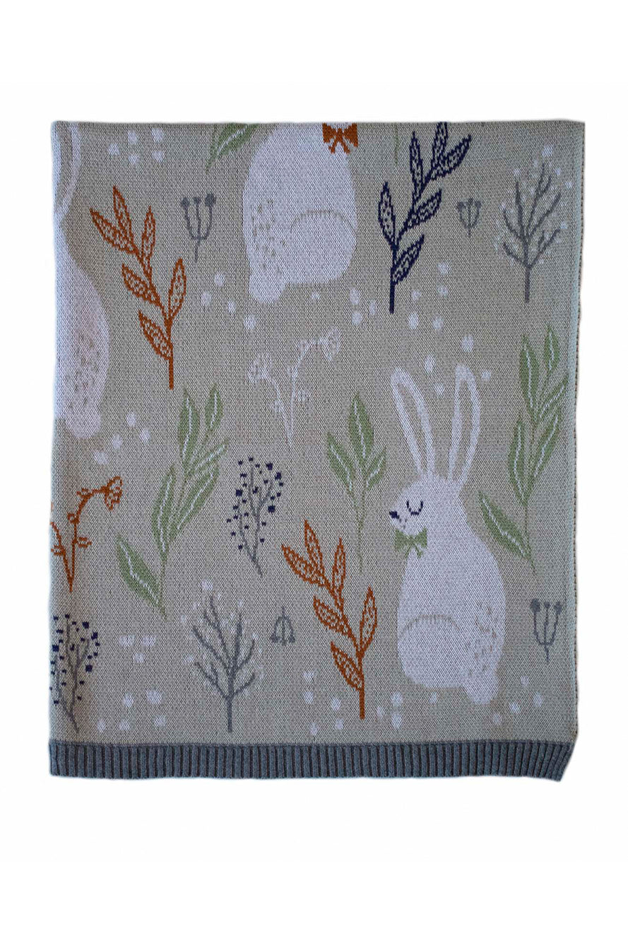 INDUS - BABY BLANKET - NATURE BUNNY - Tempted Kensington