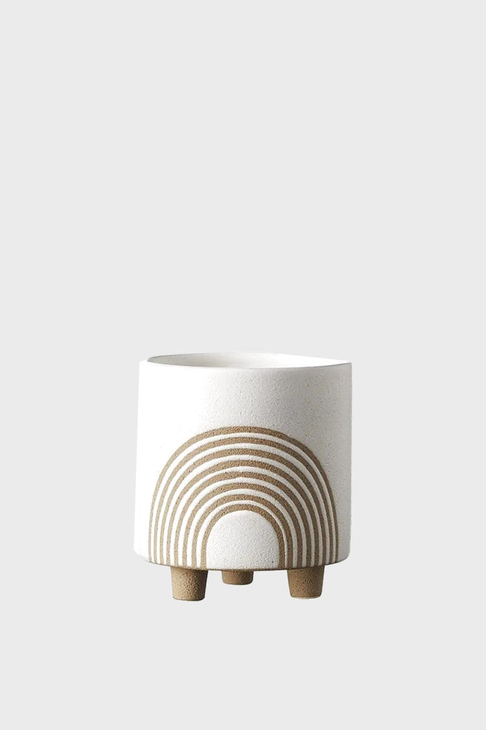 EVERGREEN COLLECTIVE - BIRCH POT - SMALL - CHALK - Tempted Kensington