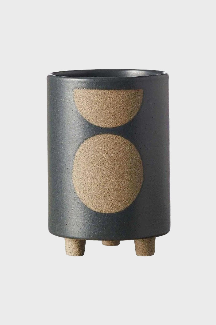 EVERGREEN COLLECTIVE - BIRCH POT - TALL - SLATE - Tempted Kensington