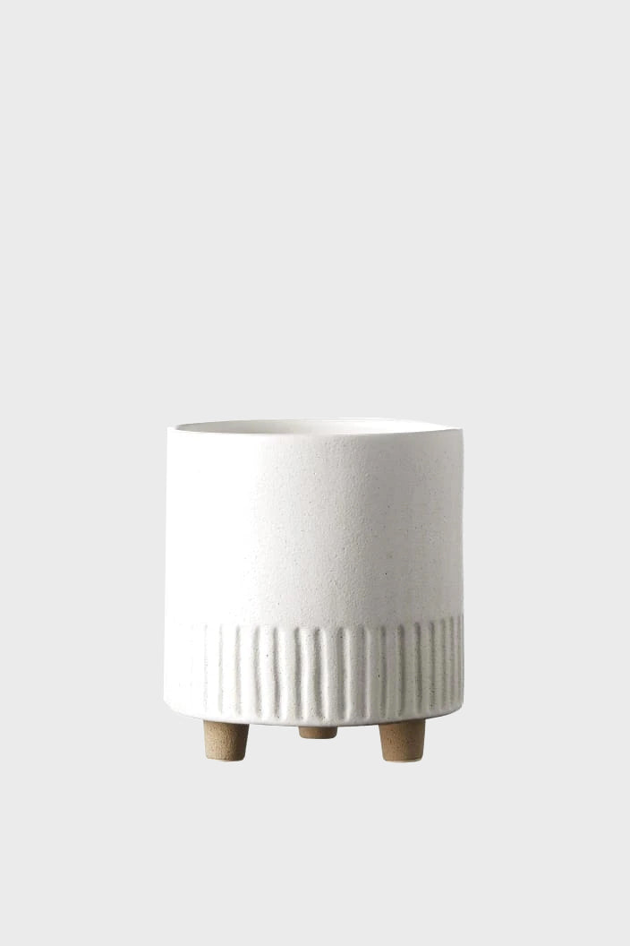 EVERGREEN COLLECTIVE - BIRCH POT - MEDIUM - CHALK - Tempted Kensington