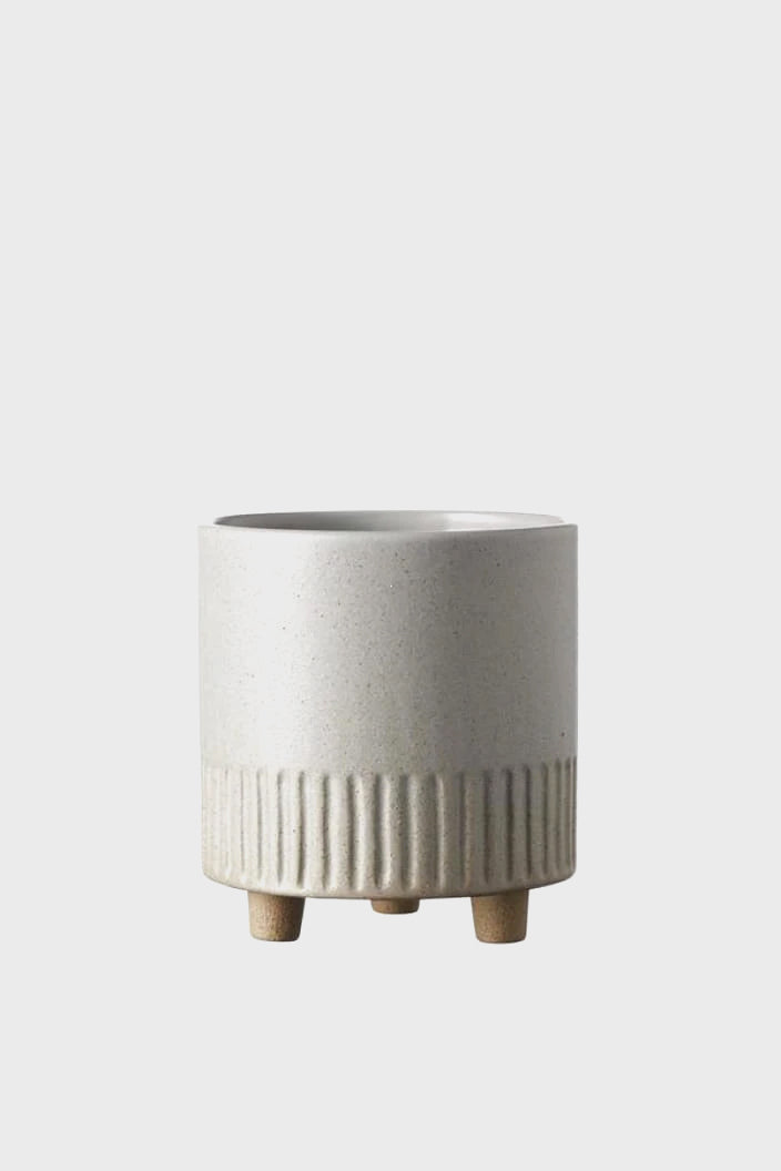EVERGREEN COLLECTIVE - BIRCH POT - MEDIUM - FOG - Tempted Kensington