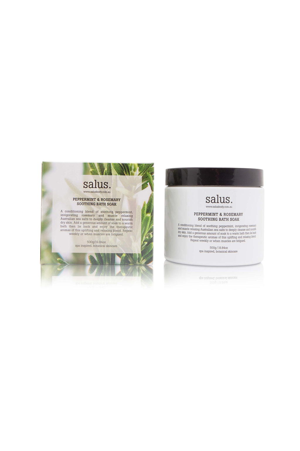 SALUS - PEPPERMINT & ROSEMARY SOOTHING BODY SOAK - 500G - Tempted Kensington