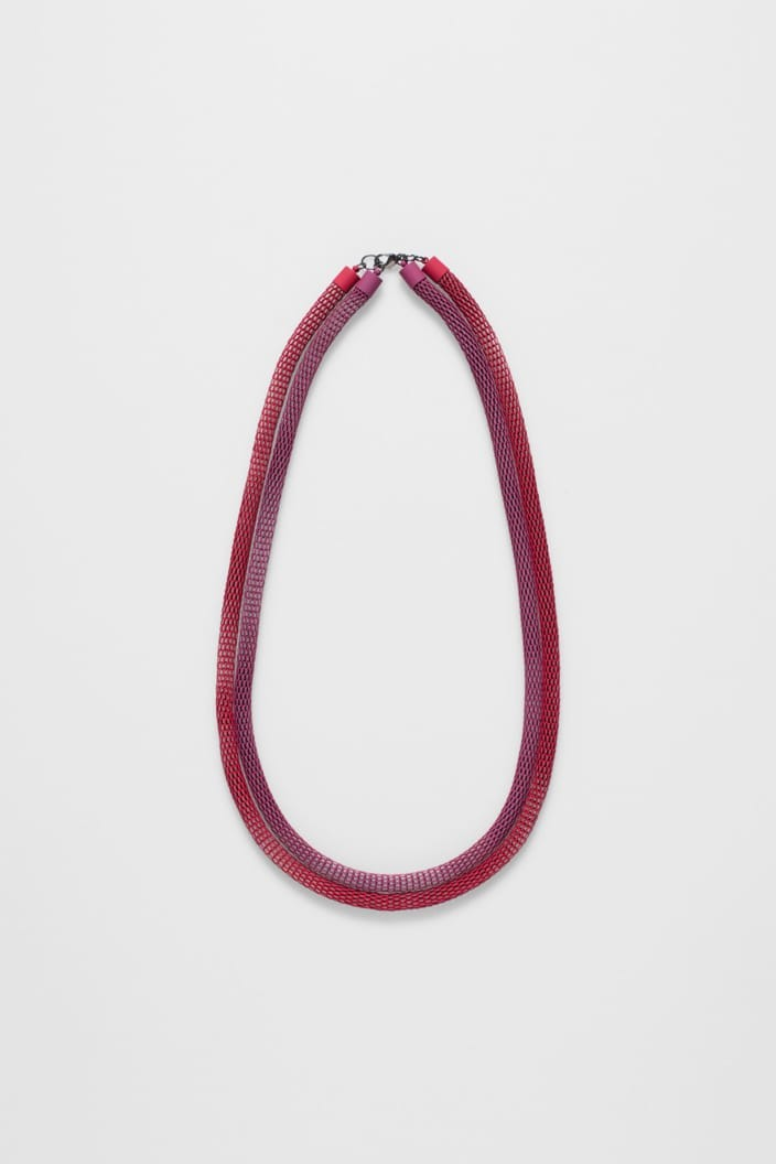 ELK THE LABEL - BRITT NECKLACE - BOYSENBERRY / RED - Tempted Kensington