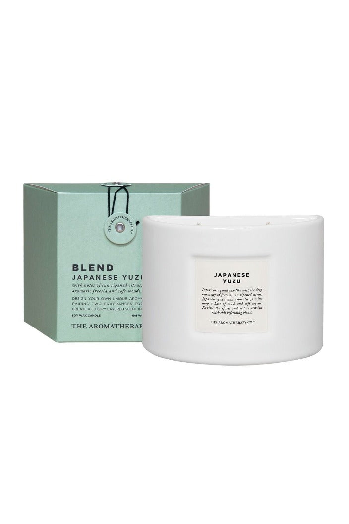 AROMATHERAPY CO - BLEND CANDLE - 280G - JAPANESE YUZU - Tempted Kensington