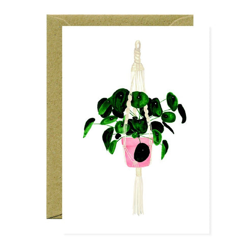 PLANT PILEA - GREETING CARD