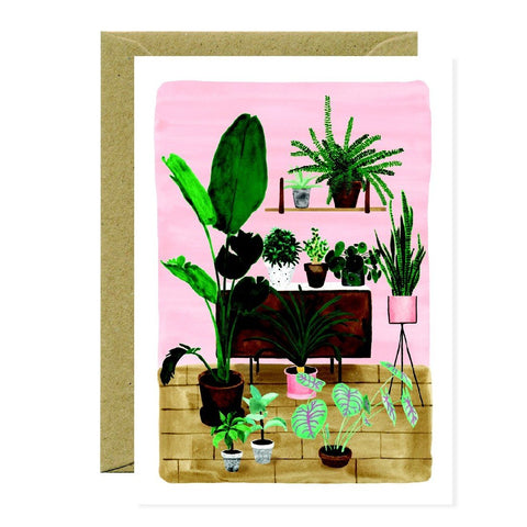 PLANT LIVING ROOM - GREETING CARD
