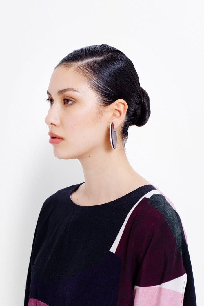 ELK THE LABEL - REINE SPLICE EARRINGS - PEONY / WINDSOR - Tempted Kensington