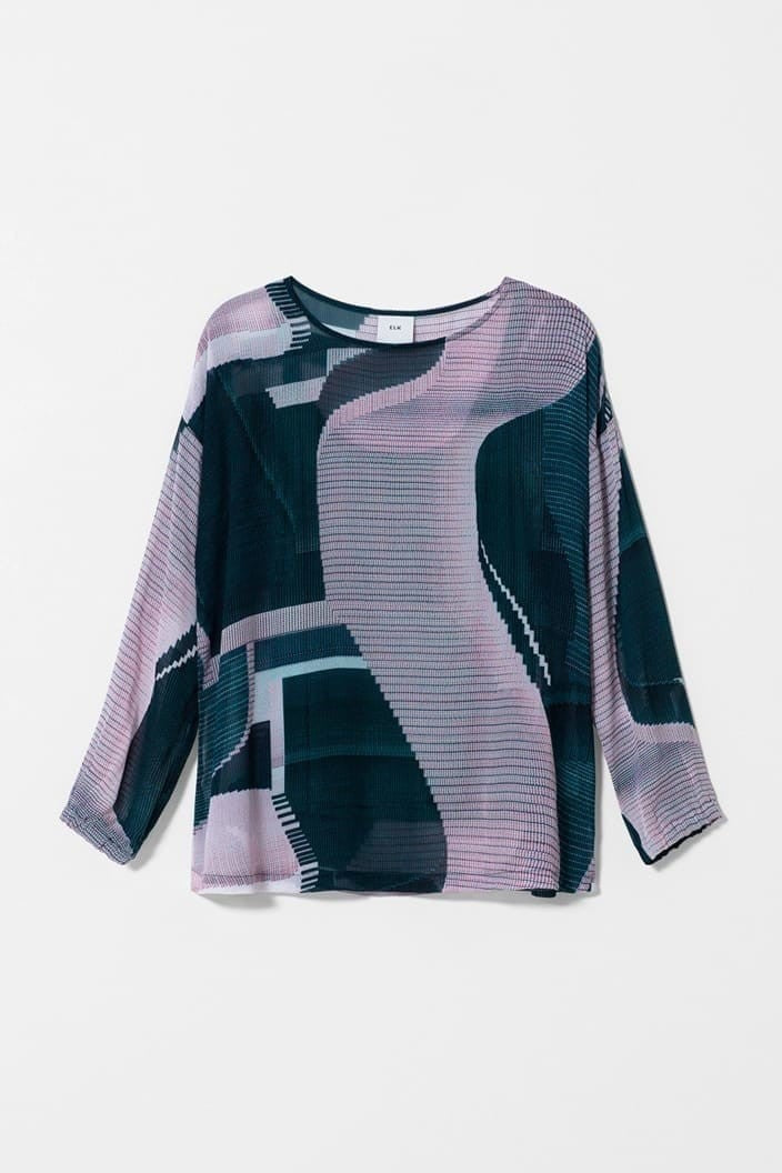 ELK THE LABEL - CATJA TOP - IRIS SWIRL - Tempted Kensington