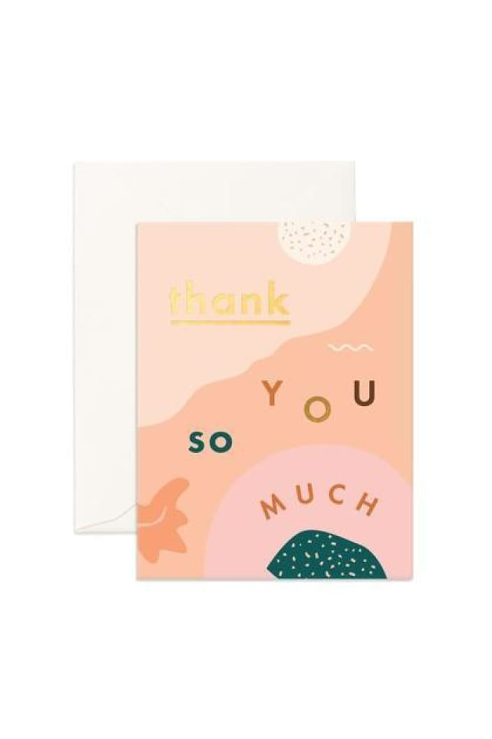 FOX & FALLOW - THANK YOU SO MUCH ABSTRACT - GREETING CARD - Tempted Kensington