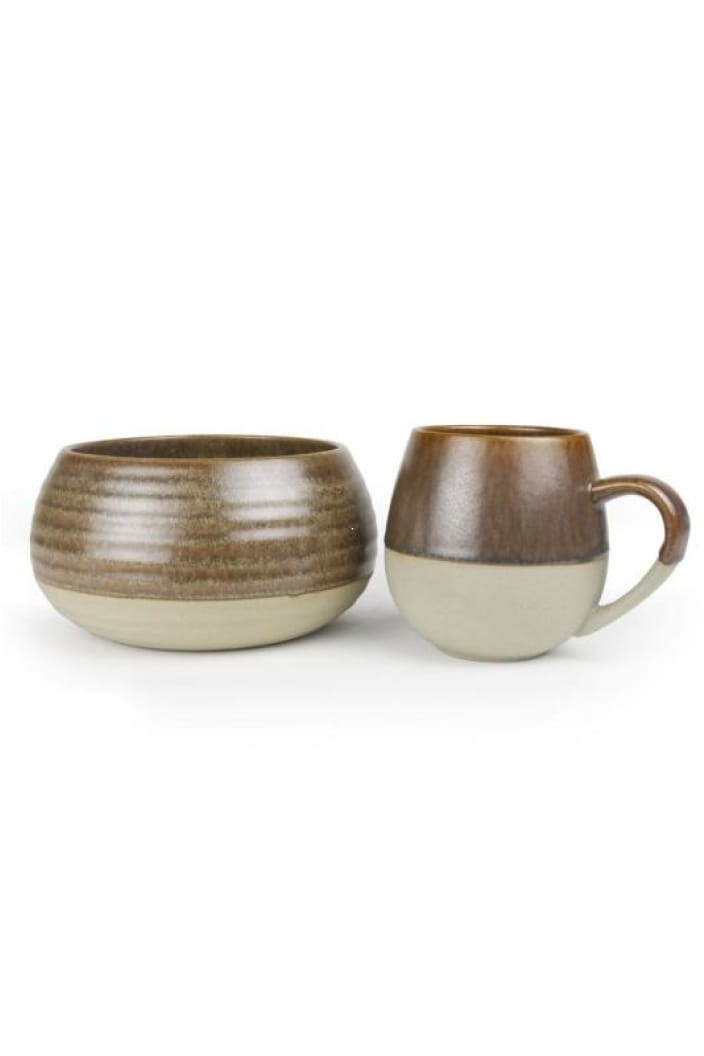 ROBERT GORDON - MORNING HUGS - BOWL & MUG SET - TOFFEE - Tempted Kensington
