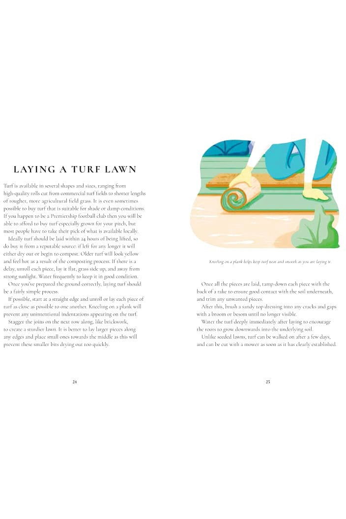 PERFECT LAWNS A PRACTICAL GUIDE BY SIMON AKEROYD - Tempted Kensington