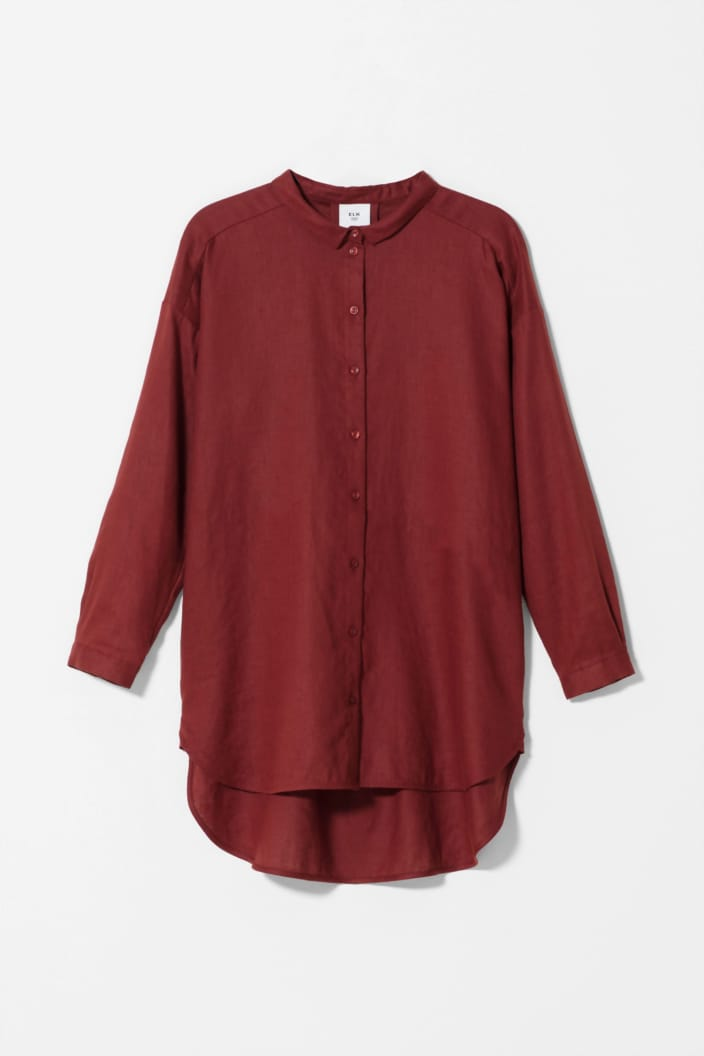 ELK THE LABEL - YENNA SHIRT - RED - Tempted Kensington