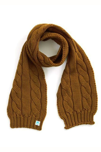 UIMI - TRINITY CHUNKY CABLE KIDS SCARF - ONE SIZE - COLOUR: BRASS