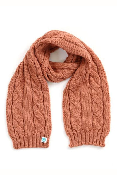 UIMI - TRINITY CHUNKY CABLE KIDS SCARF - ONE SIZE - COLOUR: BUTTERSCOTCH