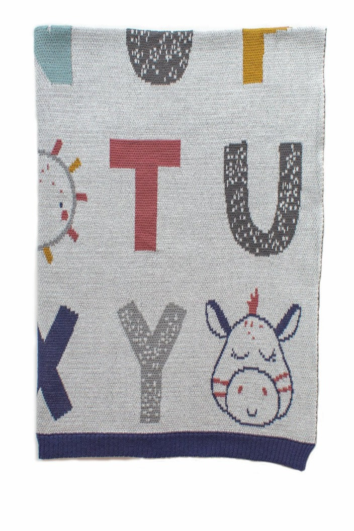 INDUS - BABY BLANKET - ALPHABET - Tempted Kensington