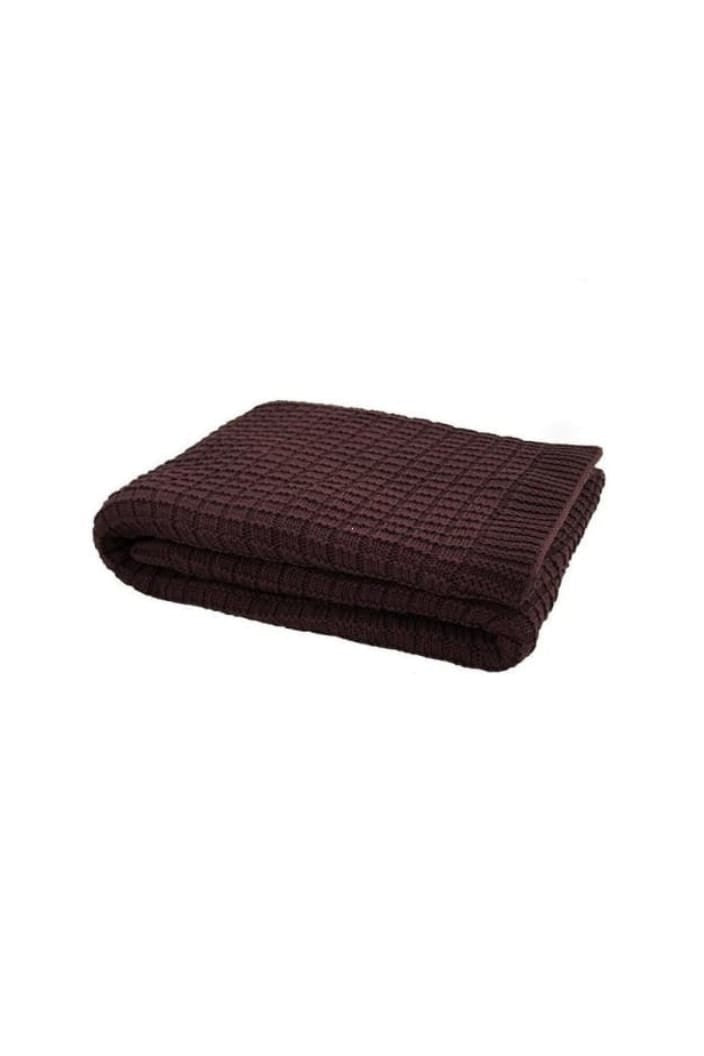 BAMBURY - TANAMI KNIT THROW - CHESTNUT - Tempted Kensington