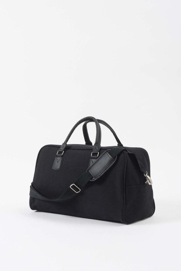 CITTA - CANVAS TRAVEL BAG - BLACK