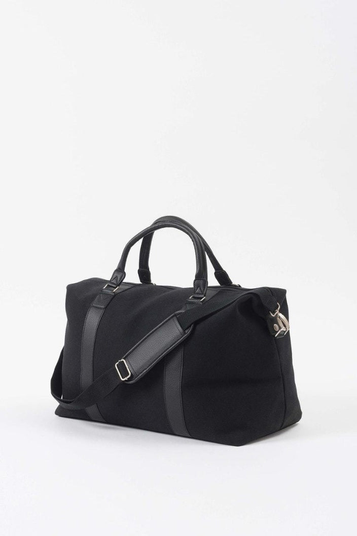 CITTA - CANVAS WEEKENDER BAG - BLACK
