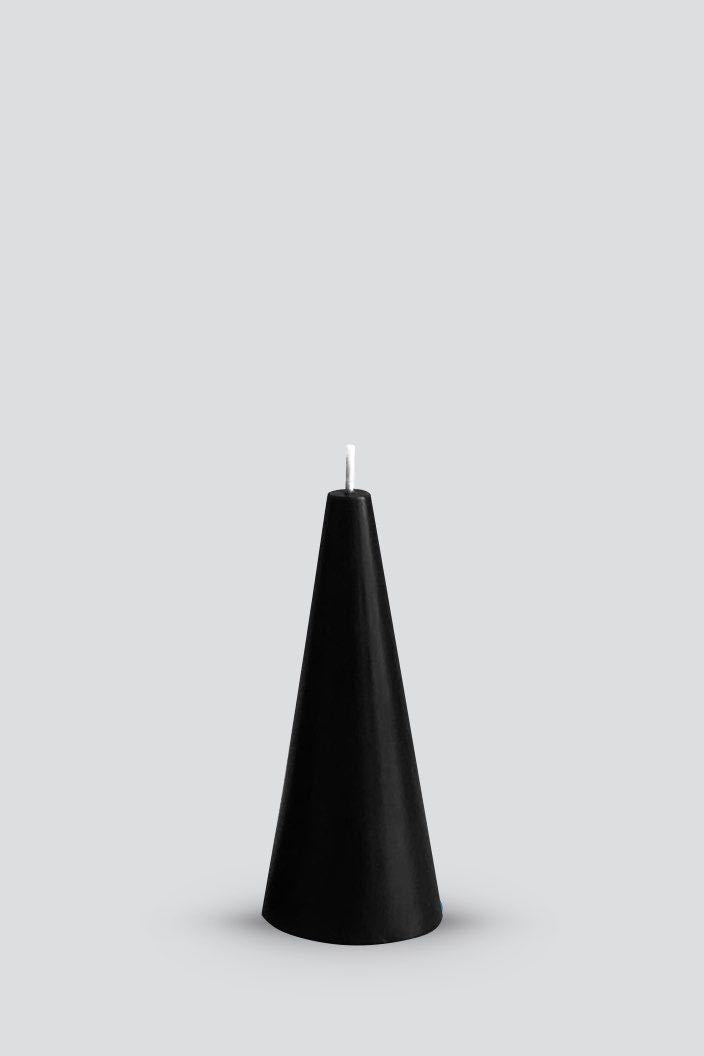 CONE CANDLE - BLACK - S (4.5 X 10.5 CM)-Tempted Kensington-Tempted Kensington