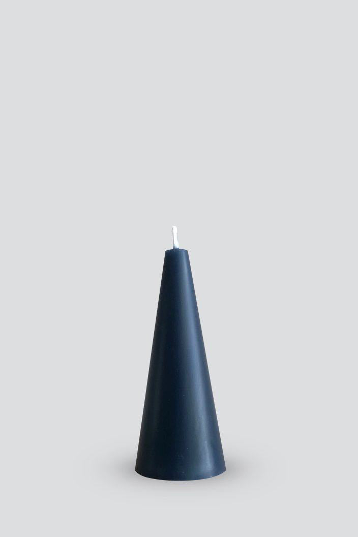 CONE CANDLE - GREY - S (4.5 X 10.5 CM)-Tempted Kensington-Tempted Kensington