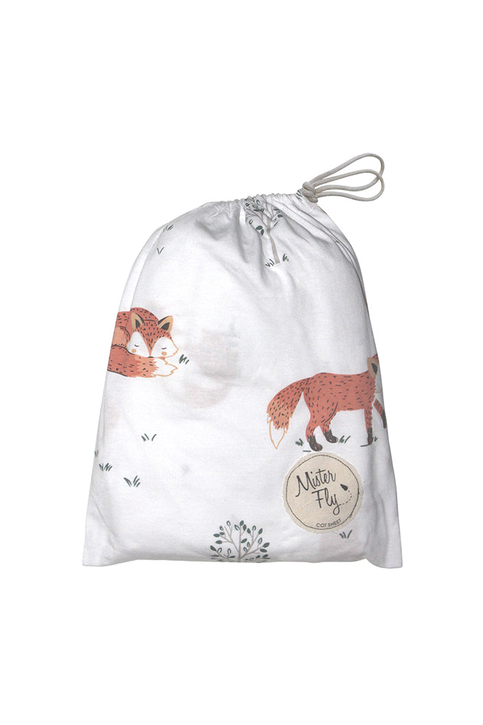 MISTER FLY - FOX JERSEY COT SHEETS-Tempted Kensington-Tempted Kensington