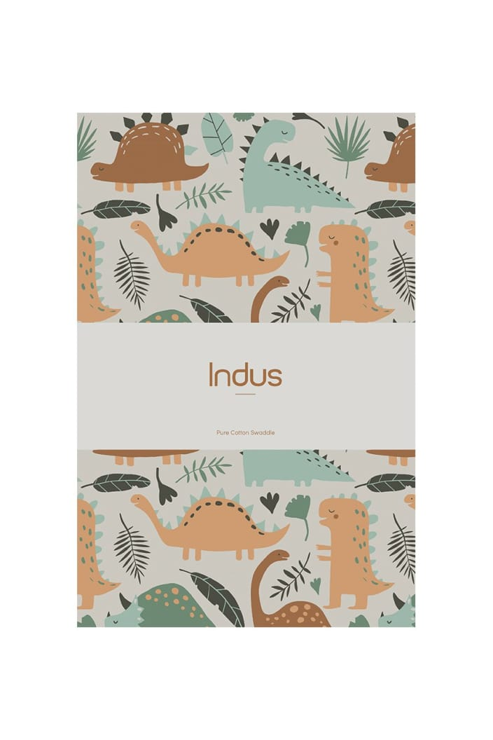 INDUS - BABY SWADDLE - DINOSAUR - Tempted Kensington