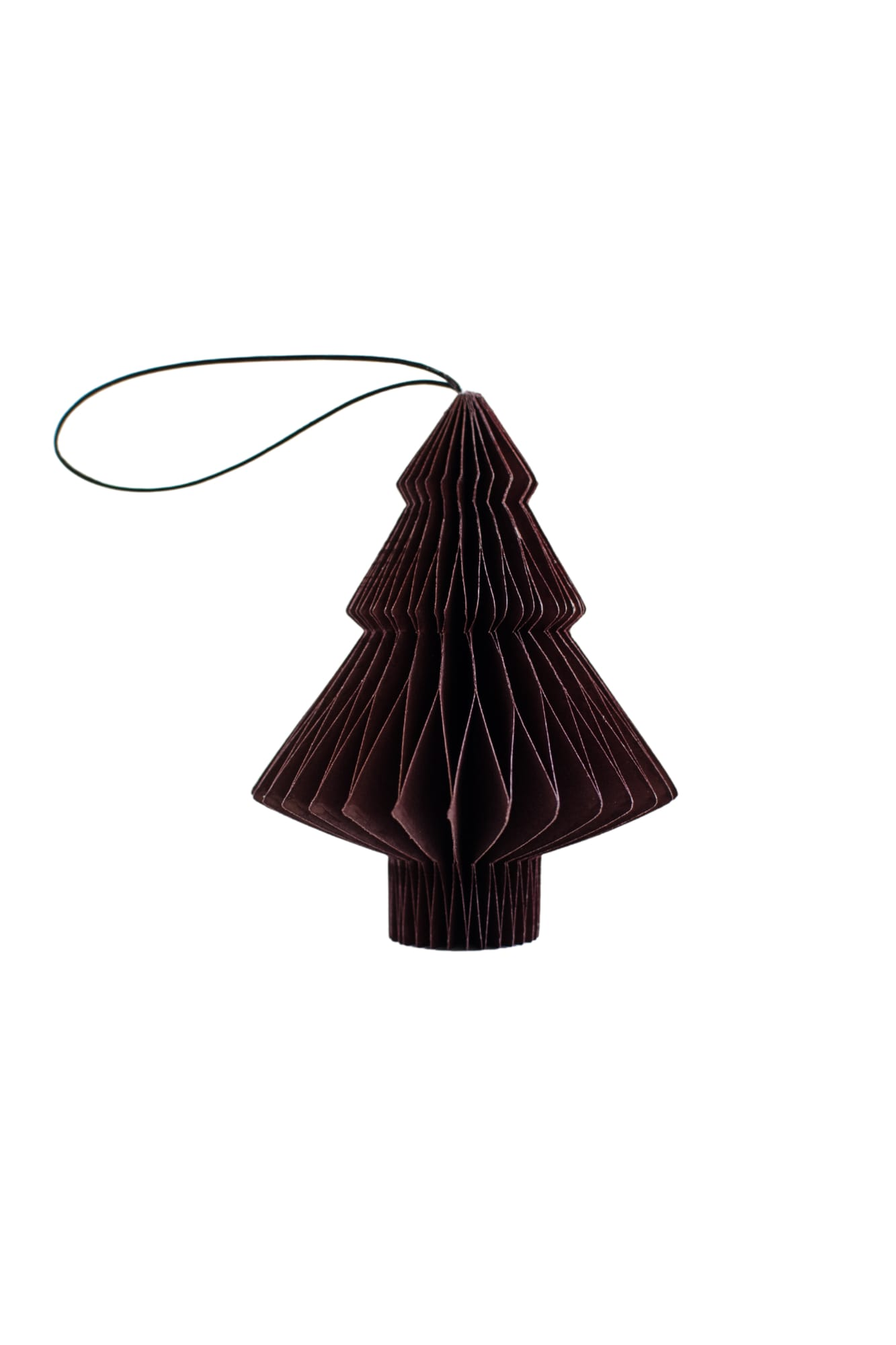 NORDIC ROOMS - CHRISTMAS ORNAMENT - PAPER TREE - DEEP BURGUNDY - Tempted Kensington
