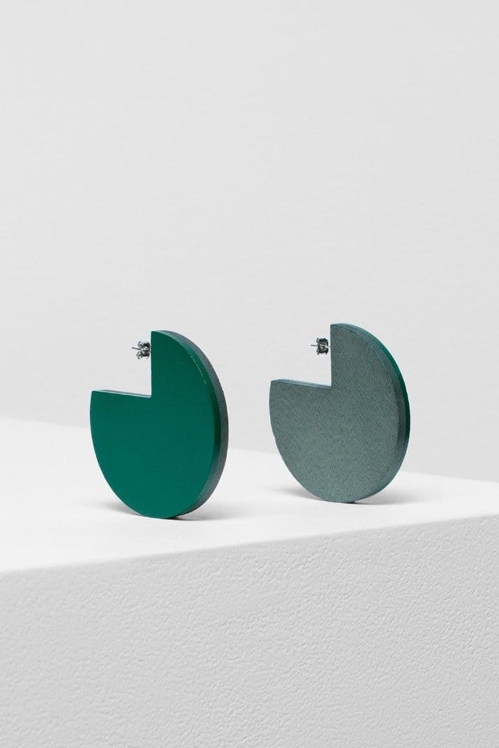 ELK THE LABEL - REINE SPLICE EARRINGS - GREEN / CHALK