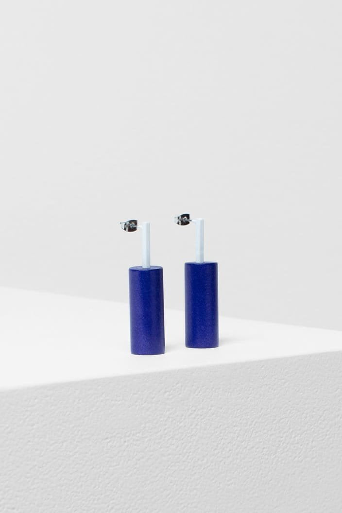 ELK THE LABEL - EDA EARRING - BLUE / WHITE - Tempted Kensington