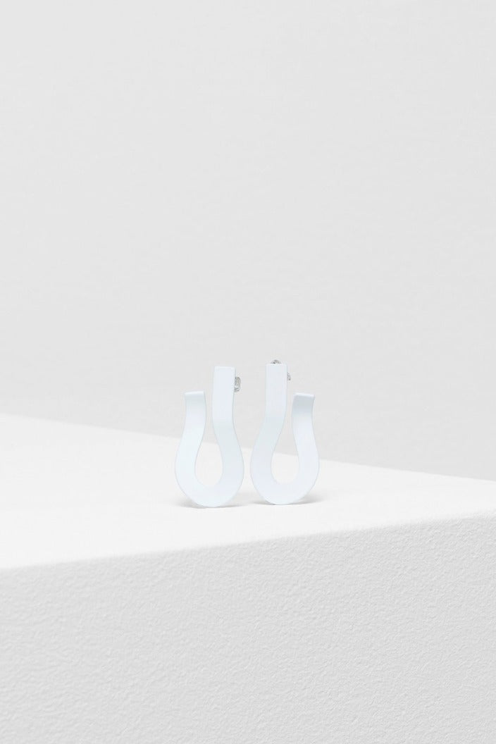 ELK THE LABEL - EBBA EARRINGS - WHITE - Tempted Kensington