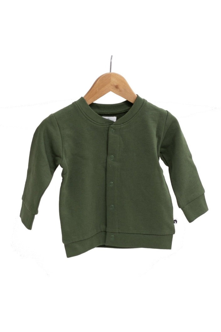 BURROW & BE - ESSENTIALS FLEECE CARDIGAN - PINE - SIZE: 3-6 MONTHStemp - Tempted Kensington