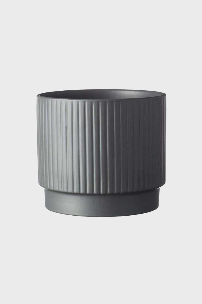 EVERGREEN COLLECTIVE - DUNE POT - SMALL - CHARCOAL - Tempted Kensington