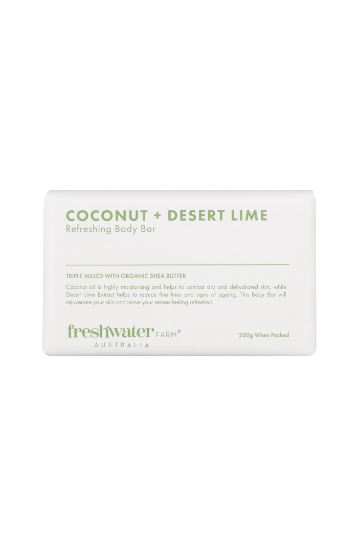 FRESHWATER FARM - COCONUT & DESERT LIME REFRESHING BODY BAR SOAP - 200G - Tempted Kensington