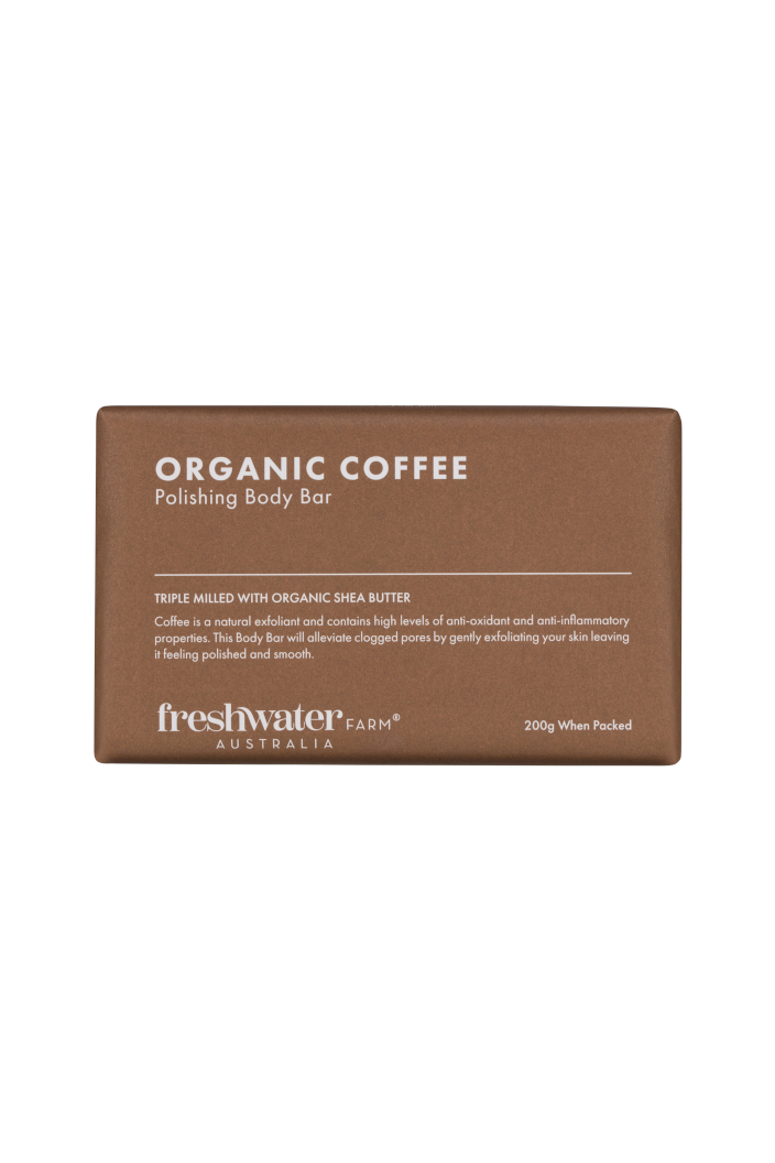 FRESHWATER FARM - ORGANIC COFFEE POLISHING BODY BAR SOAP - 200G - Tempted Kensington