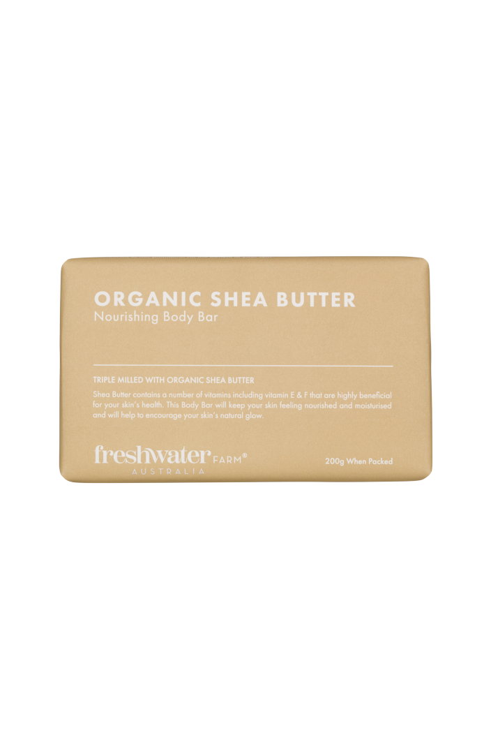 FRESHWATER FARM - ORGANIC SHEA BUTTER BODY BAR SOAP - 200G - Tempted Kensington