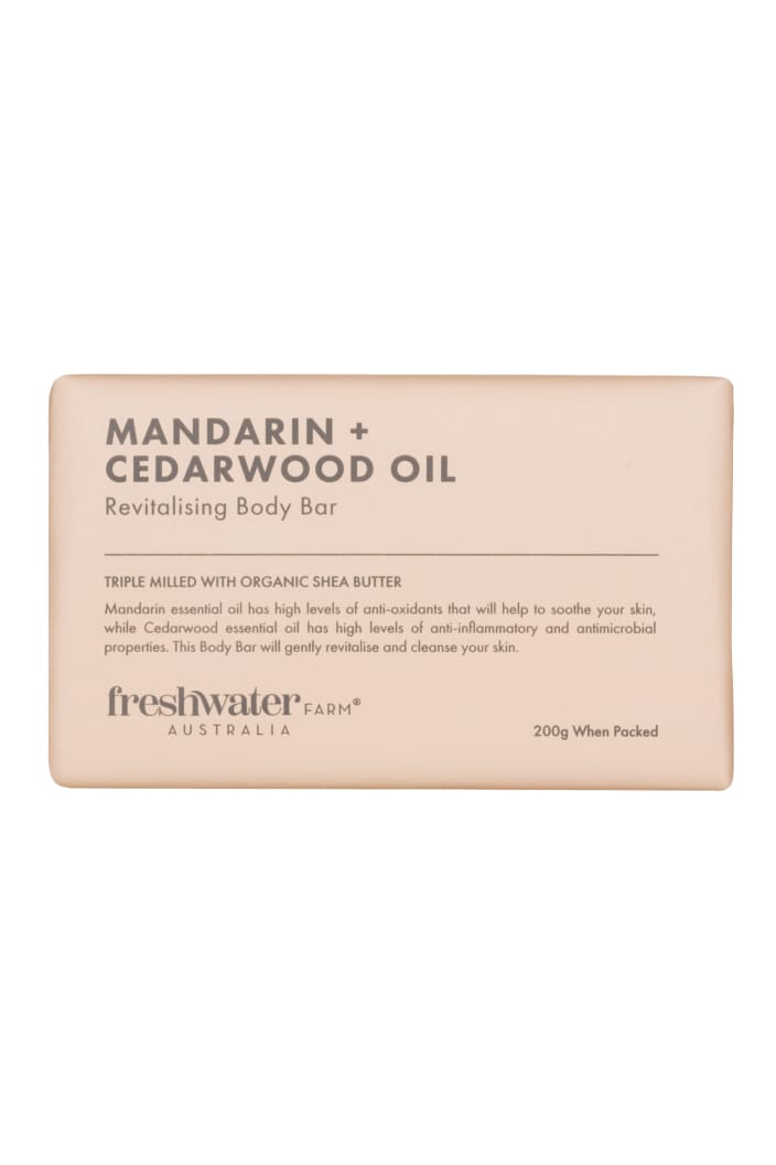 FRESHWATER FARM - MANDARIN & CEDARWOOD OIL REVITALISING BODY BAR SOAP - 200G - Tempted Kensington