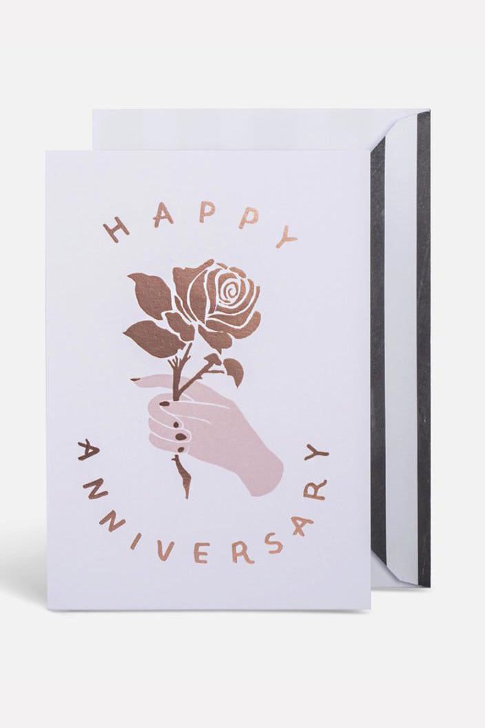 BLACKLIST - HAPPY ANNIVERSARY - ROSE GOLD - GREETING CARD - Tempted Kensington