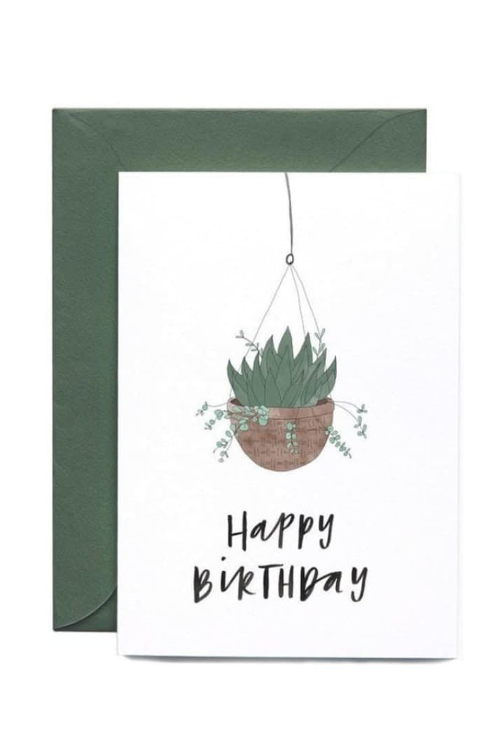 IN THE DAYLIGHT - HANGING PLANT - HAPPY BIRTHDAY - GREETING CARD - Tempted Kensington