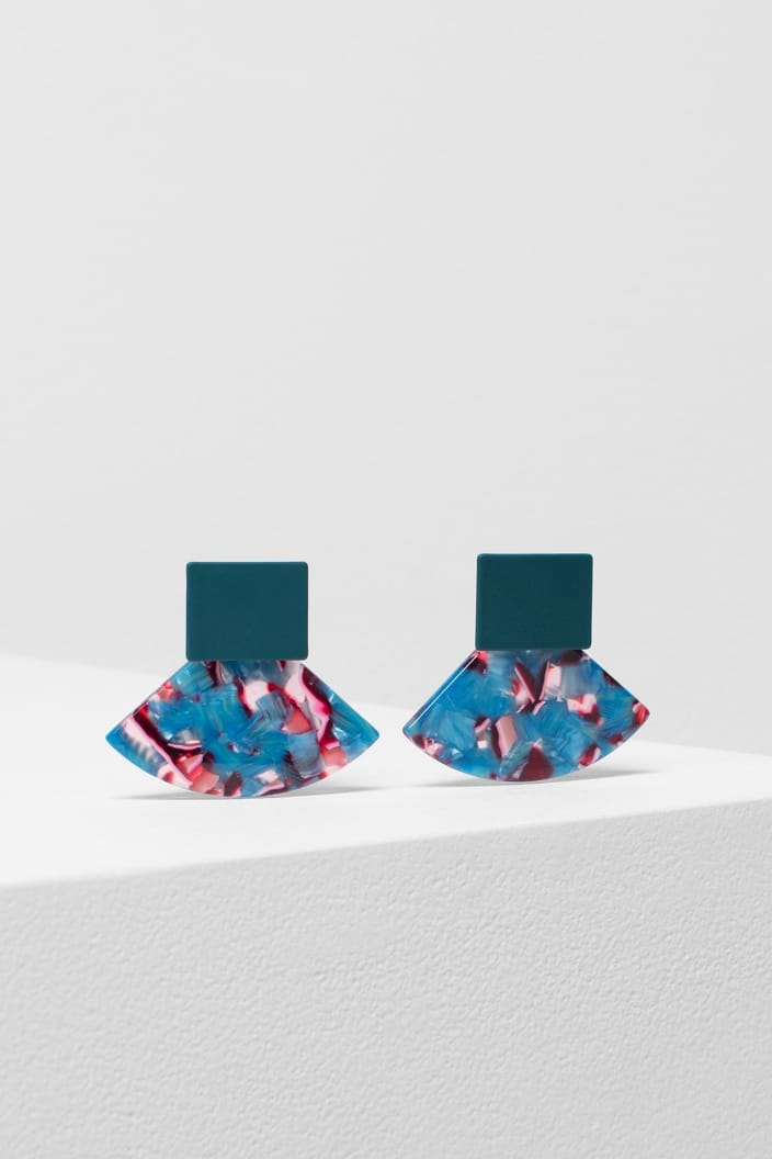 ELK THE LABEL - HEDEN EARRING-Tempted Kensington-PINK MULTI / DEEP TEAL-Tempted Kensington