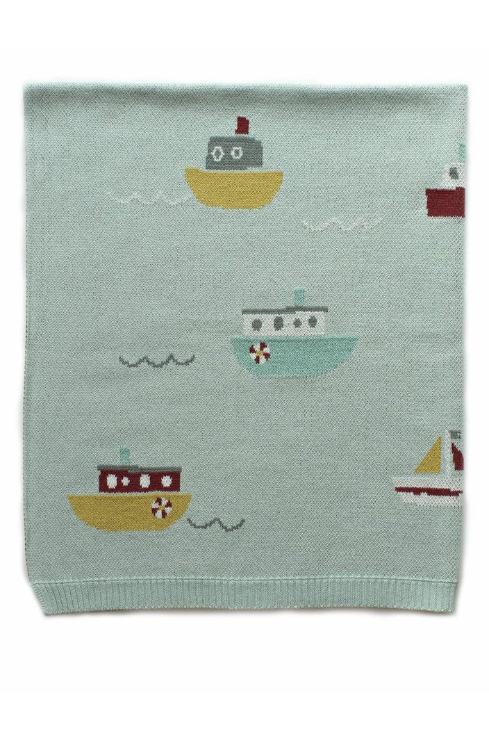 INDUS - BABY BLANKET - TUGBOAT - Tempted Kensington